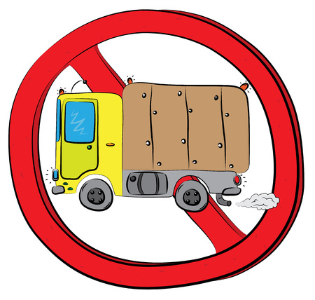 Truck vehicle not allowed sign.