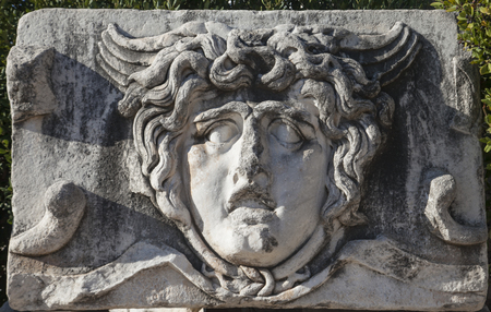The Statue of Medusa in Apollo Temple Didyma  Didyma Didim is in the Aegean Region of Turkey   photo