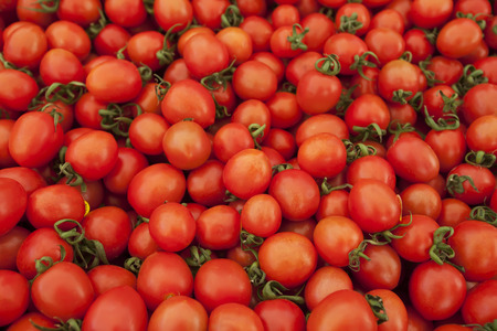 fresh red tomatoes in market photo