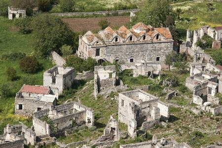 makri: Kaya Village or Kayakoy also known as Karmylassos and Levissii. Stock Photo