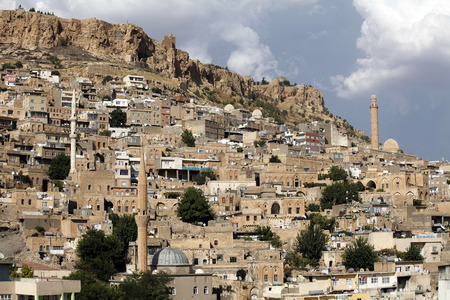 Old town view from ancient city Mardin Stock Photo