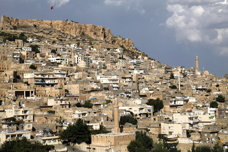 mesopotamian: Old town view from ancient city Mardin Stock Photo
