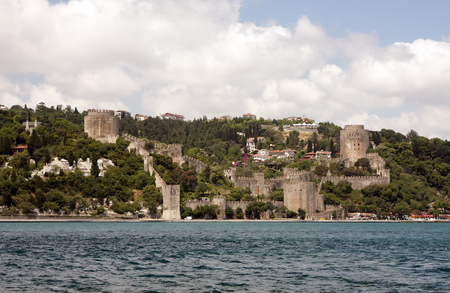 hisari: The beautiful View of Rumeli Fortress, Istanbul, Turkey.