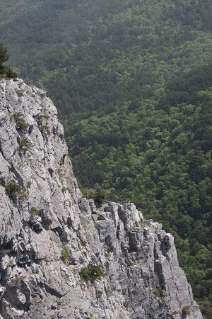 ida: A view of the rocky cliffs at ?da (Kaz) Mountain in Turkey Stock Photo