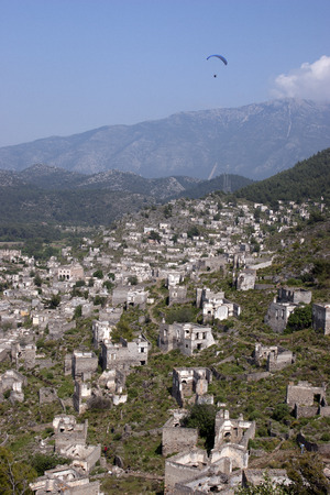 makri: Kaya Village or Kayakoy also known as Karmylassos and Levissii. Stock Photo