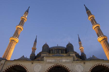 edirne: Classical Ottoman Mosque Architecture : Selimiye, Edirne Stock Photo