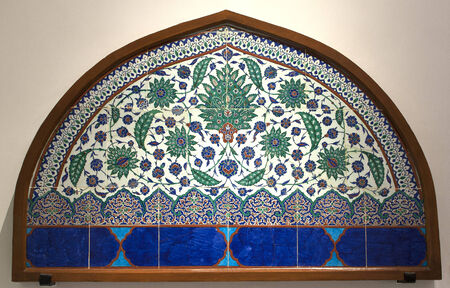 Ancient tile pattern on ceramic wall in ?stanbul Archeology Museum