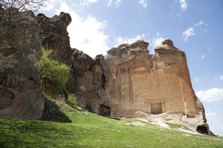midas: Midas Monument of Ancient Midas City in Yazilikaya, Eskisehir, Turkey