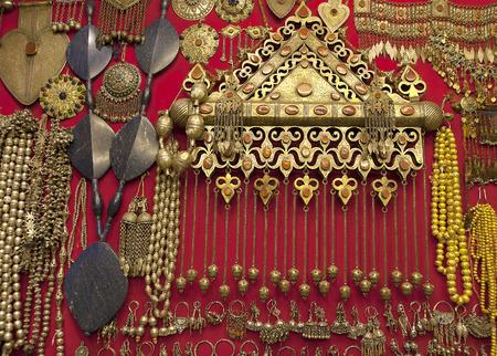gold souk: Gold craftsmanship jewelery accessories at Grand Bazaar store IstanbulTurkey.