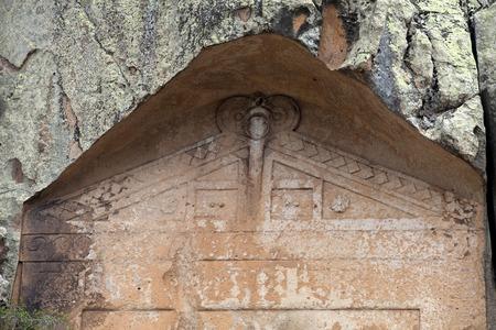 midas: Midas Monument of Ancient Midas City in Yazilikaya, Eskisehir,
