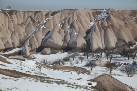 turkish ethnicity: Typical rock formations in Cappadocia, Turkey