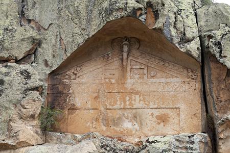 large formation: Midas Monument of Ancient Midas City in Yazilikaya, Eskisehir,