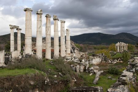 aphrodite: The Temple of Aphrodite in the ancient Greek city of Afrodisias in Geyre, Turkey Stock Photo