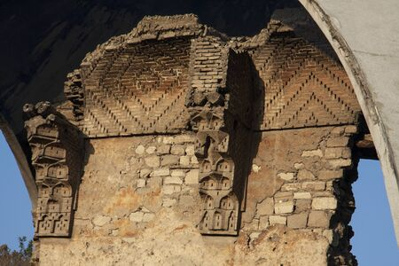 seljuk: A piece of old Alaaddin palace in Konya TurkeyBeneath the dome-like structure are the scant remains of the Seljuk Imperial Palace.