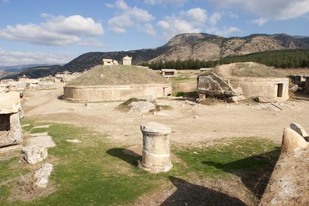 hierapolis: Hierapolis, Turkey. Ancient tombs in the necropolis, II - XIV century AD