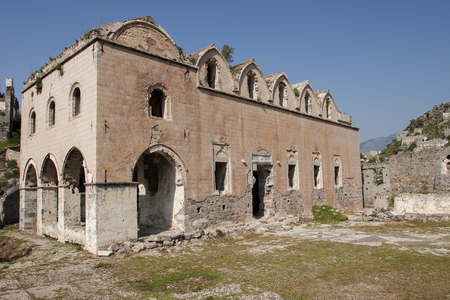 makri: Kaya Village or Kayakoy also known as Karmylassos and Levissii. Editorial