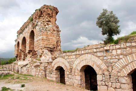 historical building: Tralleis Ancient City, Turkeys Aegean Region.