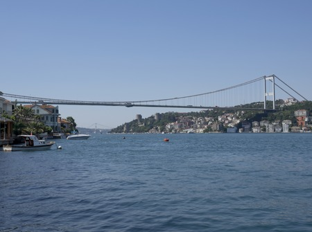 hisari: Istanbul with the Fatih Sultan Mehmet Bridge in the background