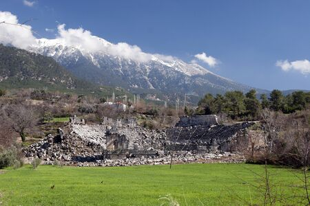 The ancient theater of tlos in lycian period in Antalya,Turkey