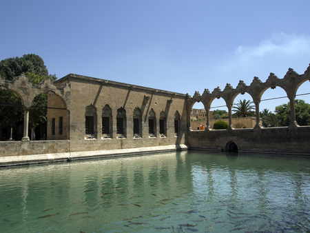 The Balikli Gol (also called the Holy Pool of Prophet Abraham), located in the center of Urfa - Turkey Editorial