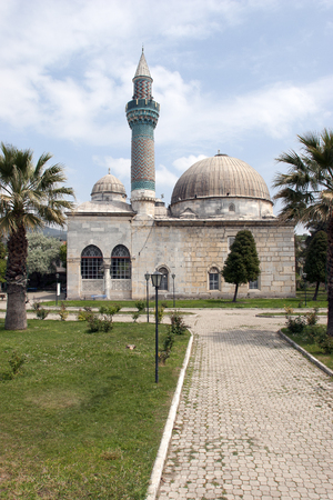 Yesil Cami (Green Mosque) in the city center of Iznik, Turkey (ancient city of Nicaea). Built in AD 1392. An early example of Ottoman Turkish architecture.