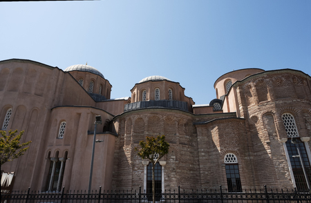 Byzantine monastery of the Christ Pantokrator ( Zeyrek Mosque) in  Istanbul, Turkey 스톡 콘텐츠