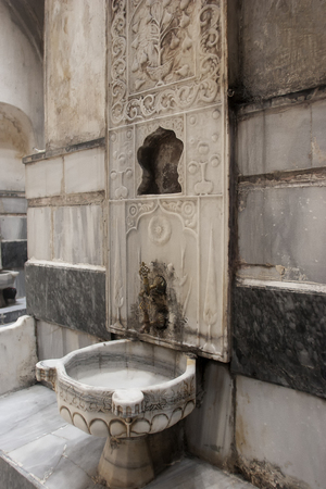 detail shot of an inside of Turkish hammam in istanbul,Turkey 스톡 콘텐츠