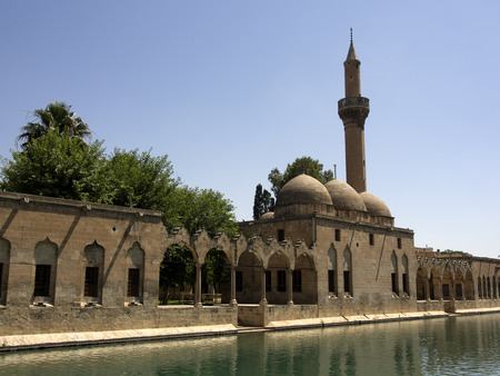 The Balikli Gol (also called the Holy Pool of Prophet Abraham), located in the center of Urfa - Turkey 에디토리얼