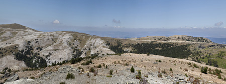 panaromic photo of Ida Mountain-Kaz Daglari in Turkey. (in Turkish: Kazdagi, meaning Goose Mountain)..Ida Mountain has endemic plants and trees .
