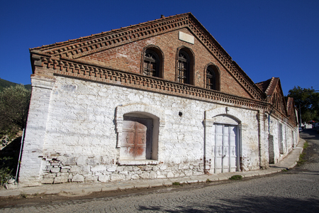 Architecturel Historical olive oil factory in Edremit, Balikesir, Turkey 에디토리얼