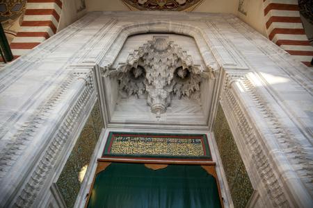 EDIRNE - MARCH 18: Old Mosque( eski camii), mosque entrance gate,  on March 18, 2012  in Edirne, Turkey Stok Fotoğraf - 133441088