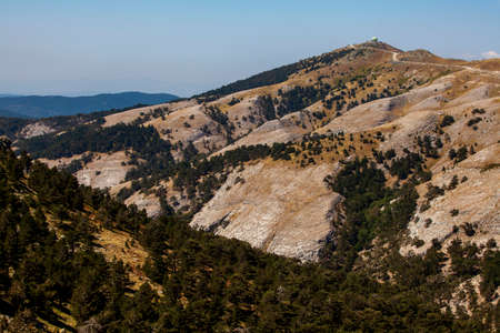 Wiev of Edrtemit bay from Kaz mountain (ida mountain), Balikesir, Turkey