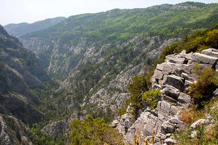Ida Mountain-Kaz Mountains in Turkey. (in Turkish: Kazdagi, meaning Goose Mountain), Turkey. Beautiful nature..Ida Mountain has endemic plants and trees. Banco de Imagens