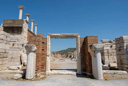 Ruins of the Saint John's basilica in the town of Selcuk near the famous Ephesus ruins in Turkey. It is said that John the Evangelist was burried here. Publikacyjne