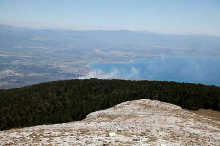 Edremit bay from Ida Mountain, Turkey. Beautiful nature.