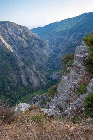 Ida Mountain-Kaz Mountains in Turkey. (in Turkish: Kazdagi, meaning Goose Mountain), Turkey.sahindere canyon. Beautiful nature..Ida Mountain has endemic plants and trees.
