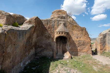 Historical ancient the acropolis of Phrygia, in Kumbet village, Eskisehir.Turkey Standard-Bild