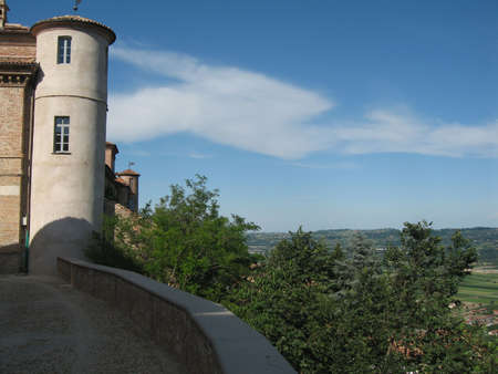 Tower in the sky of Magliano (Italy)
