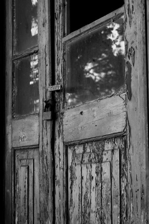 Monochrome wood door photo & Mystery Door Stock Photo Picture And Royalty Free Image. Image ...