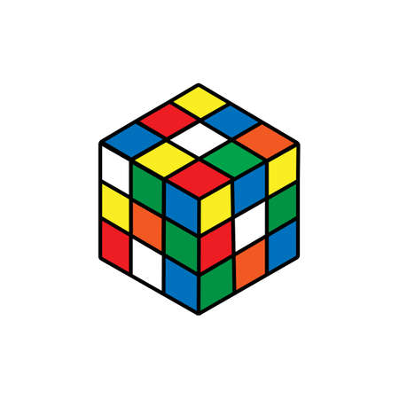 Rubik's cube icon. isolated vector illustration