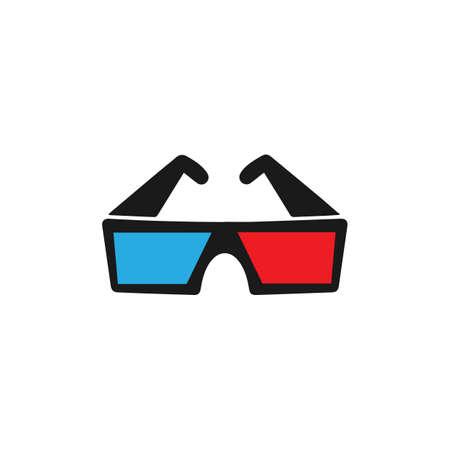 3d cinema glasses icon. film glasses. Vector illustration.