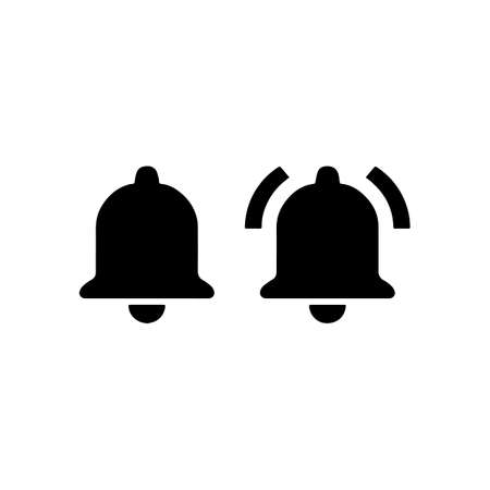 Bell rings icon vector illustration. Illustration