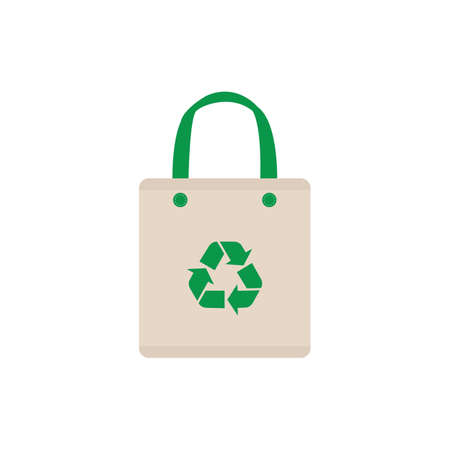 Ecological cloth bag symbol icon. Isolated Vector illustration.