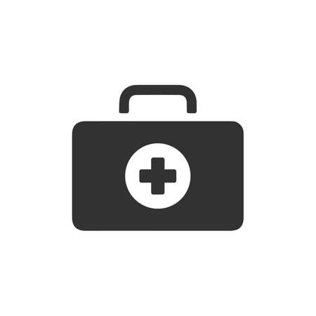 first aid kit icons. isolated vector