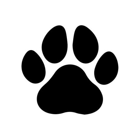 Animal paw icon. Isolated vector illustration. Stockfoto - 135679202