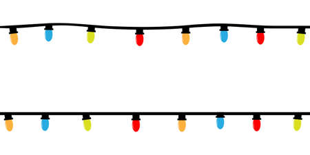 Christmas lights. Colorful decorative bulbs for decoration. Isolated vector illustration