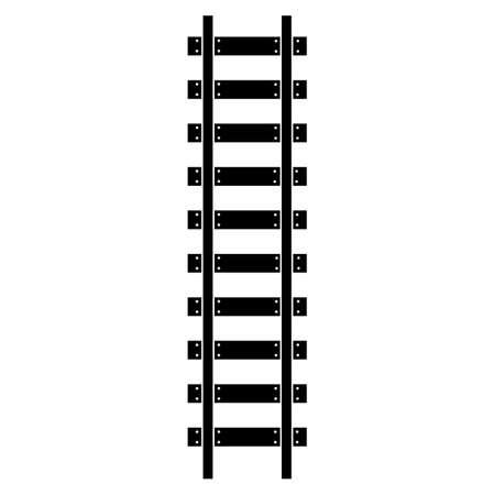 Icônes de symbole de route de chemin de fer. Illustration vectorielle isolée.