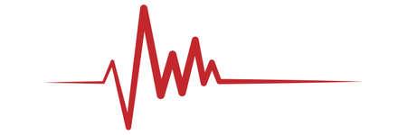 Pulse symbol. Isolated vector illustration.