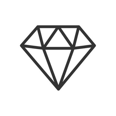 Diamond line icon. Rich symbol. Isolated vector logo illustration on white background