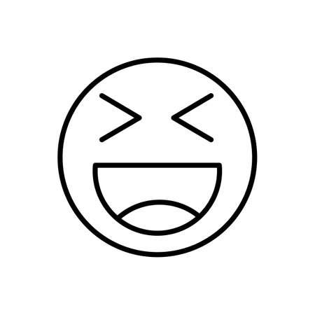 Smiley emoticon line icon. Isolated vector